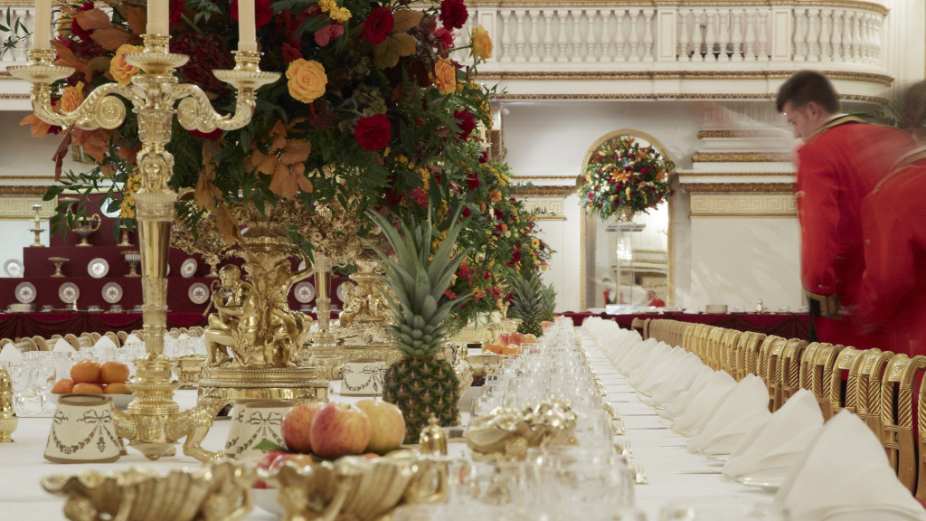 State Banquet preparations - Royal Collection Trust/Her Majesty Queen Elizabeth II, 2015