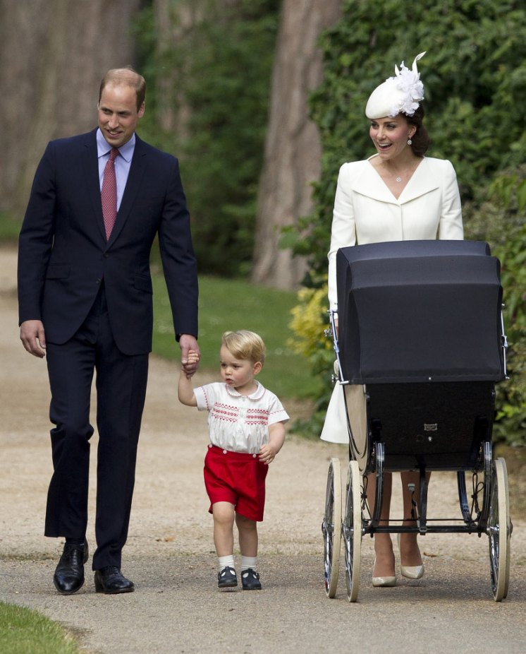 The Christening of Princess Charlotte at The Church of St Mary Magdalene. Picture by Matt Dunham/WPA-Pool Pictured: Prince William, Duke of Cambridge, Prince George, Duchess of Cambridge, Catherine, Kate Middleton, Princess Charlotte Ref: SPL1071523 050715 Picture by: Splash News Splash News and Pictures Los Angeles: 310-821-2666 New York:212-619-2666 London:870-934-2666 photodesk@splashnews.com