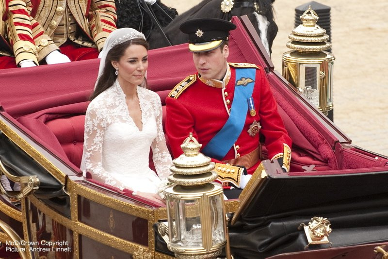 William and Kate married at Westminster Abbey. Defence Images