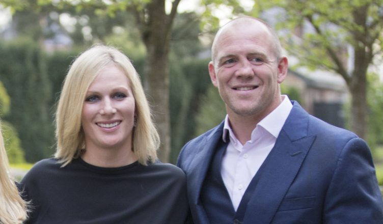 Zara and her husband Tindall (Phillips) and Mike Tindall..Picture by i-Images