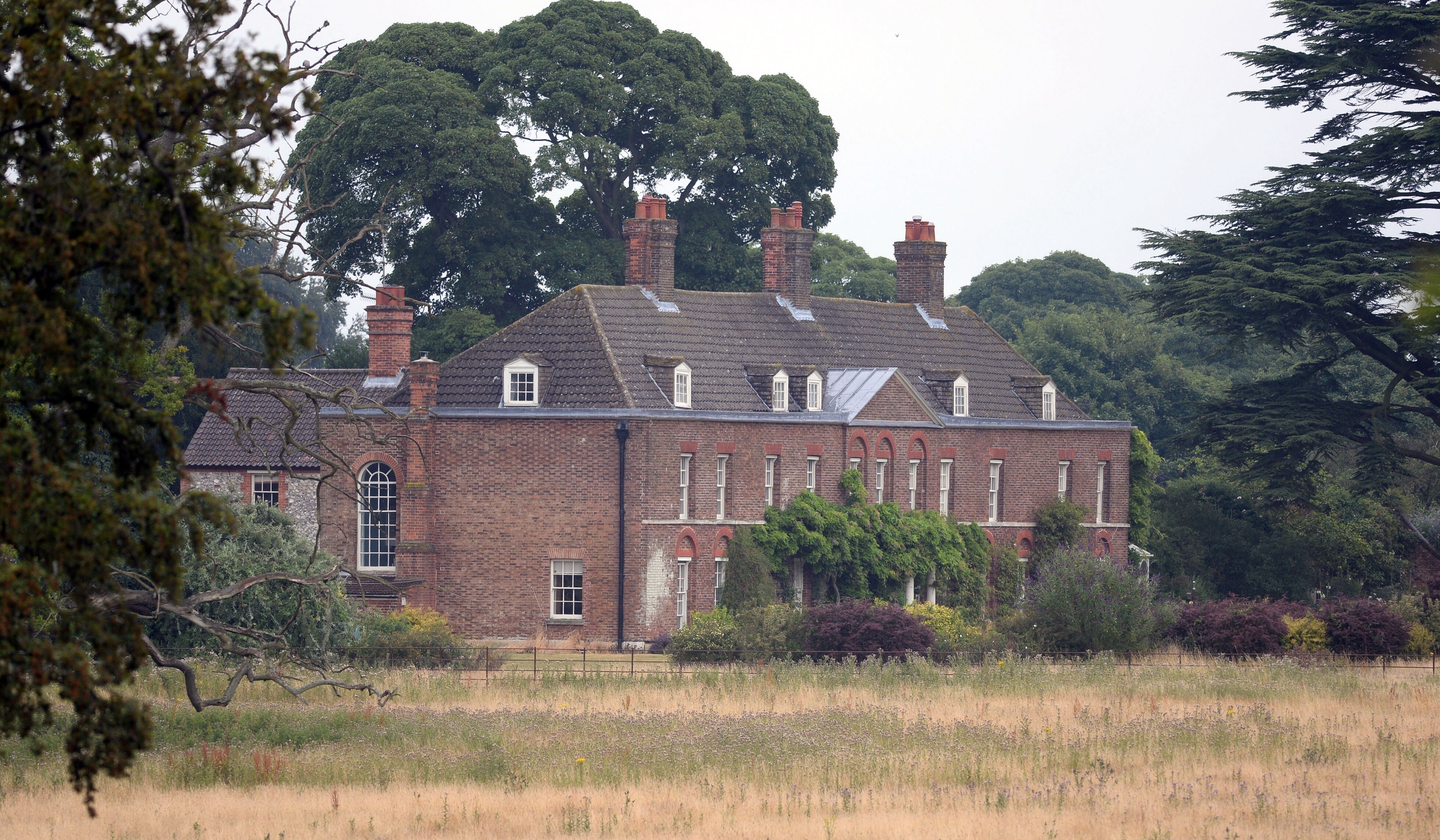 red brick Georgian house is Anmer Hall, William and Kate's Norfolk home