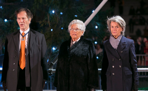 Princess Astrid, centre, at the lighting ceremony. Getty