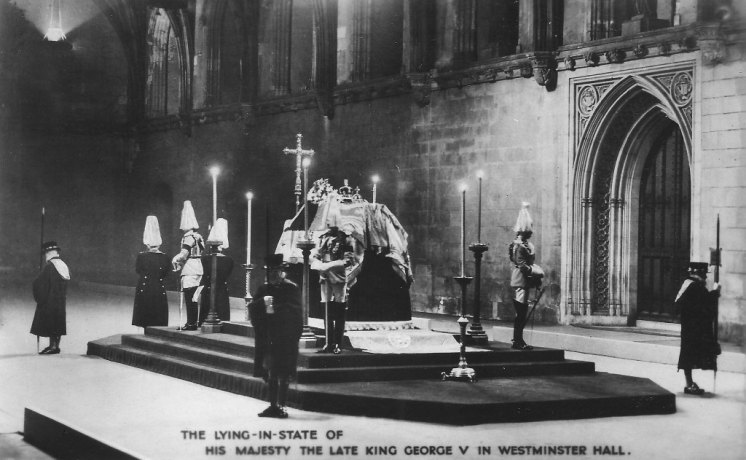 George V lay in state at Westminster Hall. Leonard Bentley)