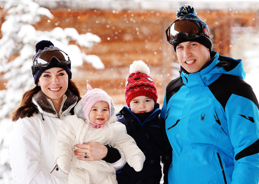 The Cambridges - William, Kate, George and Charlotte - will make at least two appearances as a family, plus arrival and departures (i-images)
