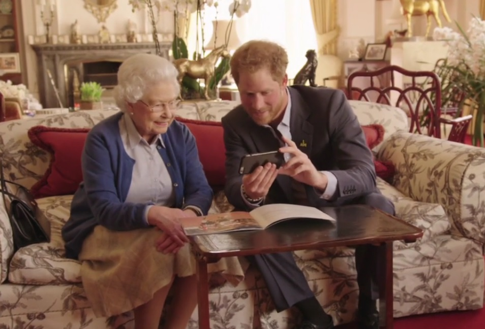 Queen Prince Harry Take On Obamas In Invictus Video