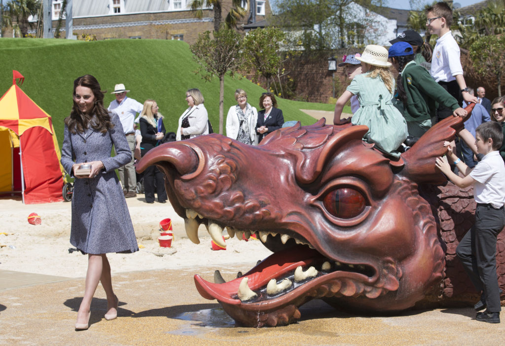 The Duchess of Cambridge at the opening of the Magic Garden at Hampton Court Palace. Picture by Stephen Lock / i-Images
