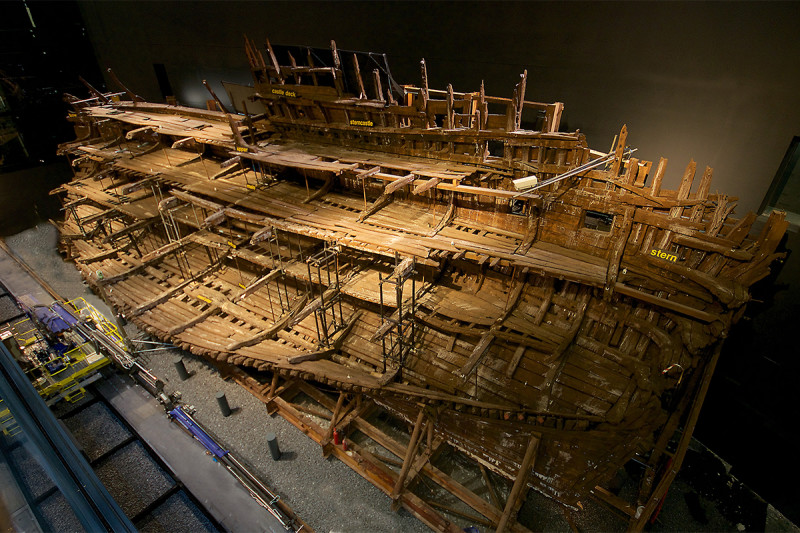 The Mary Rose can be viewed in its entirety now, after the drying out process was completed (Mary Rose Trust)