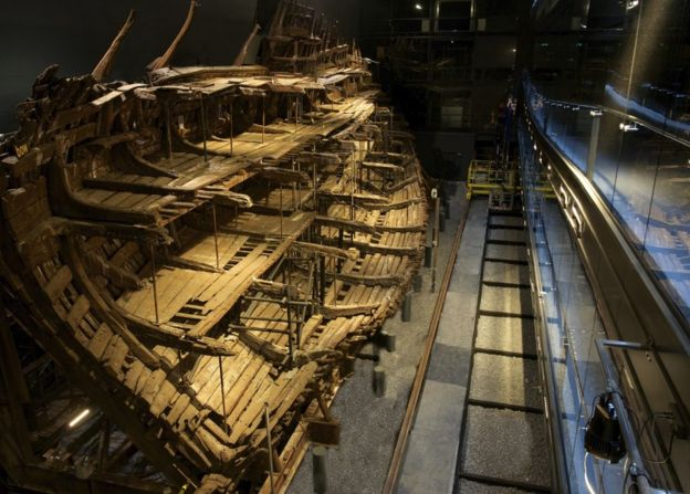 Henry VIII's Mary Rose can be viewed fully for the first time since it sank in 1545 (Mary Rose Trust)