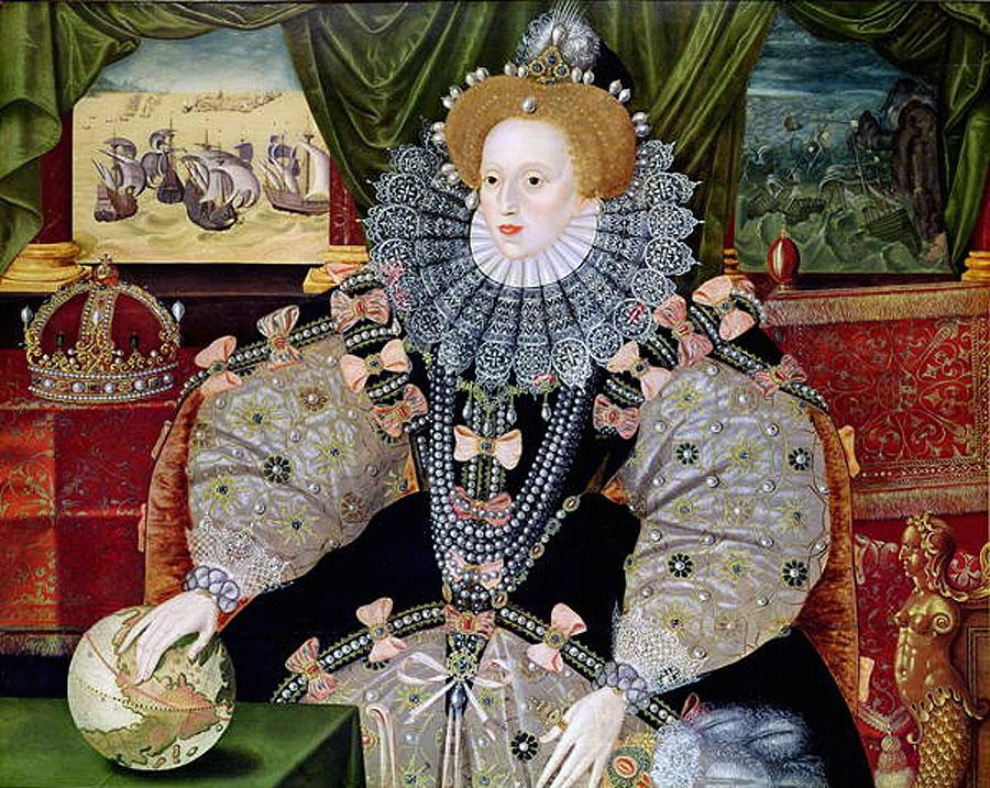The triumphant portrait of Elizabeth I, celebrating the defeat of the Spanish Armada (Wikimedia Commons)
