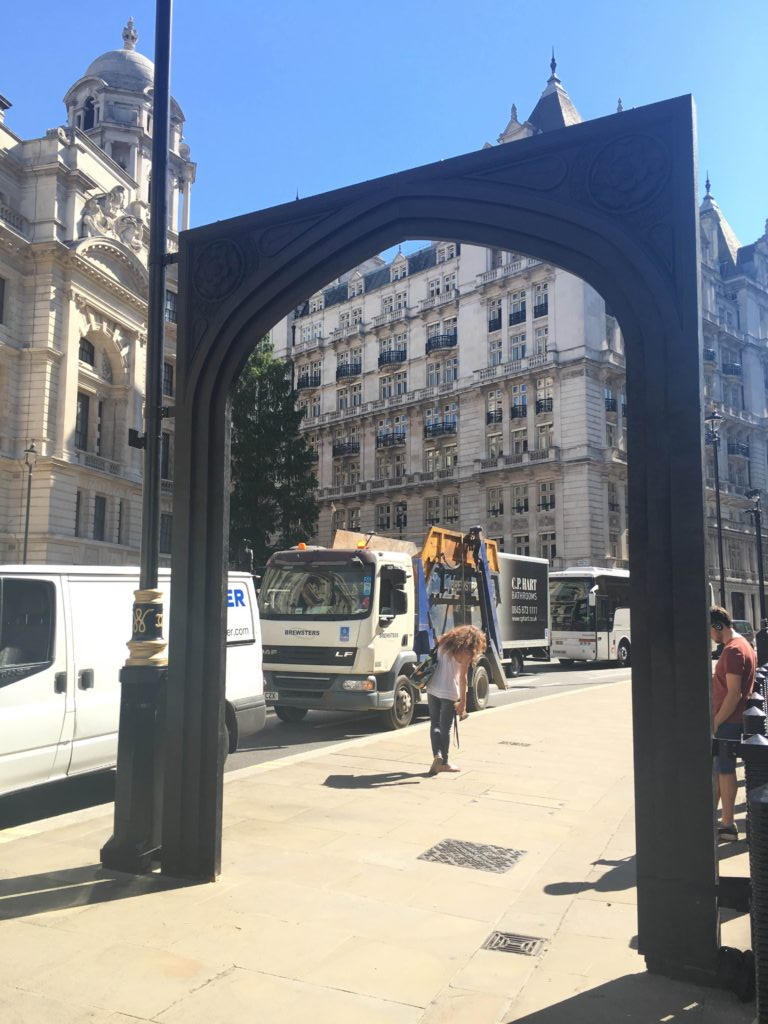 One intervention (a stop on the way) is this gate, which transports you back to James I's court (Victoria Howard)