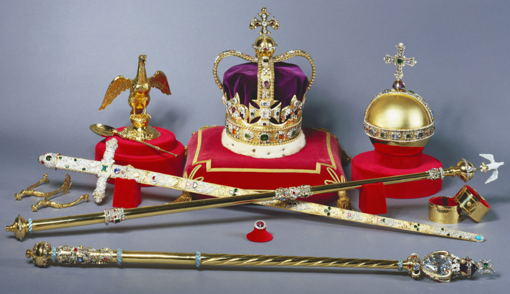The Crown Jewels are comprised of pieces, including St Edwards Crown, the orb and sceptre (Royal Collection Trust/© Her Majesty Queen Elizabeth II 2016)