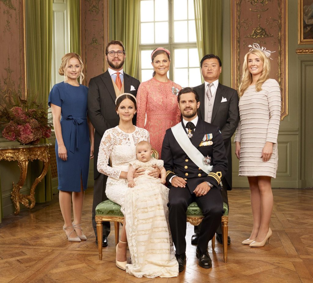Prince Alexanders photos show him with his godparents, including Crown Princess Victoria.