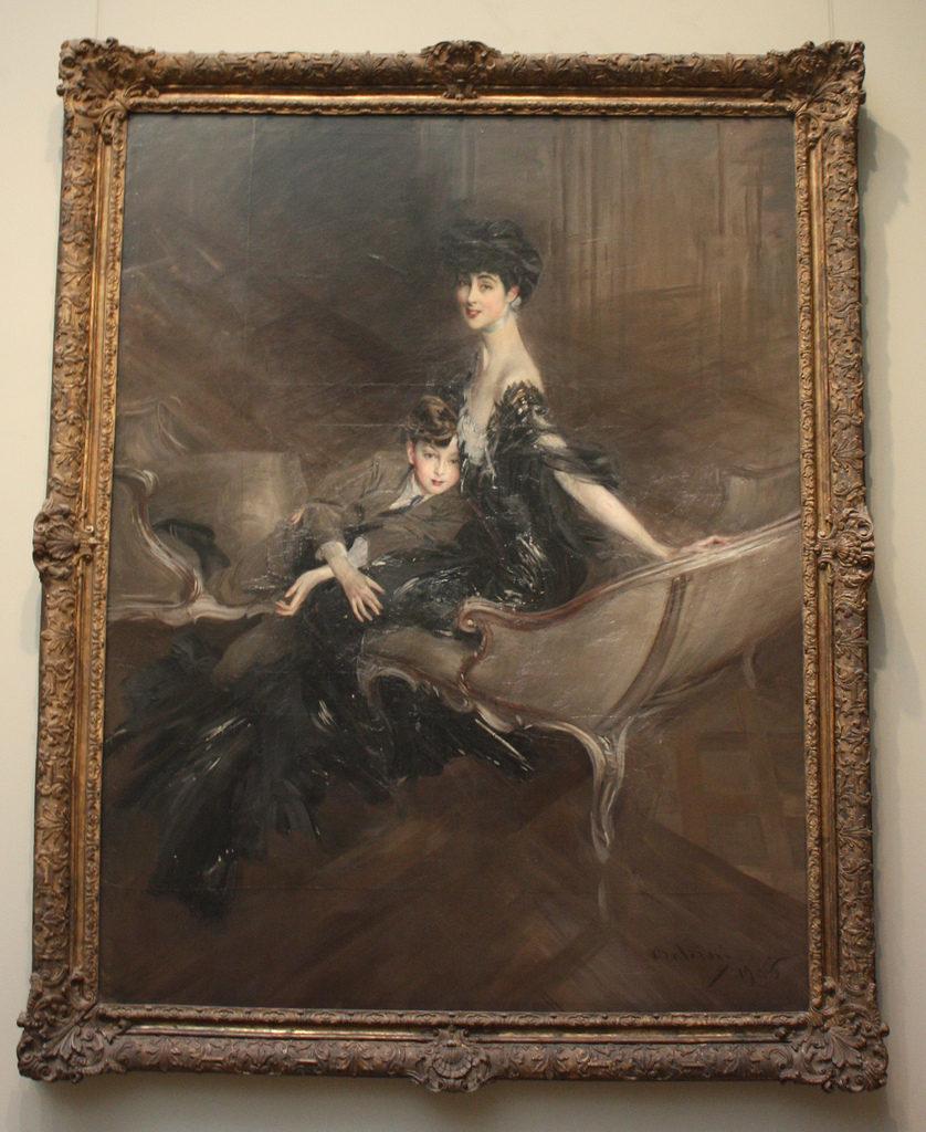 Consuelo Vanderbilt, Duchess of Marlborough, and her son Lord Ivor Spencer-Churchill by Giovanni Boldini (Peter Roan)