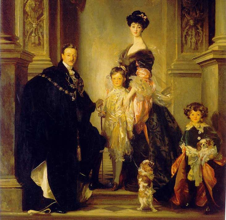 Consuelo and Charles, Duke and Duchess of Marlborough with their family. (Wikimedia Commons)