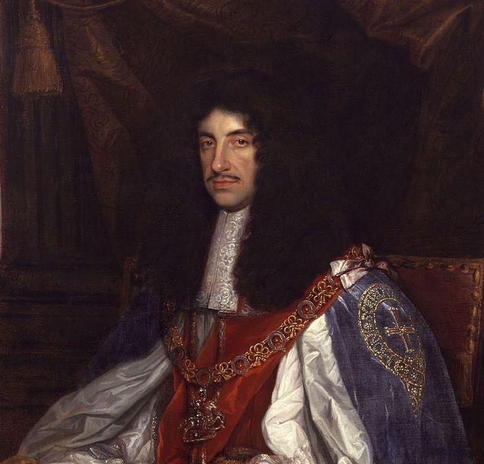 Charles II portrait in Garter robes